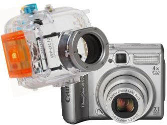 Canon's new 7.1 Megapixel Powershot A570IS, with underwater case. Now for rent at Cairns Unlimited