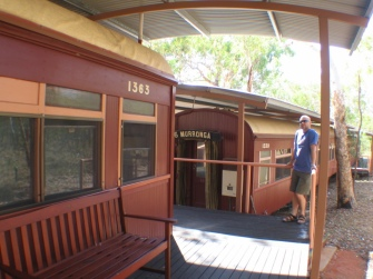 Steve posing on the Undara Lava Tubes lodge.