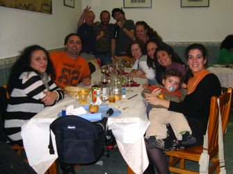 With the group of expats Steve met when he first arrived in Madrid