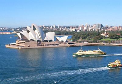 Vista panor�mica de la Opera House de Sidney, Australia.