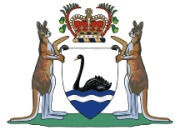 Escudo de armas de Australia Occidental.