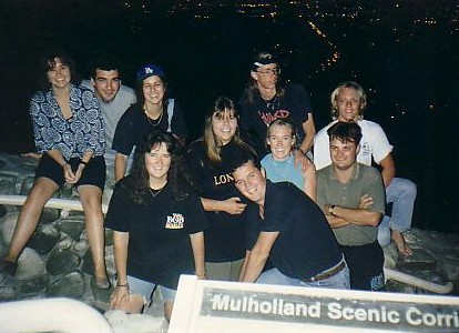 we heard there was an eclipse, so pinched the hostel van, and scooted up to Mulholland Drive.