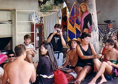 Room 3's 'beergarden'. Note the life sized cutout of the Budweiser girl, that the boys 'borrowed' from the local convenience store