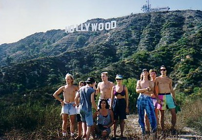 The ranger caught us trying to sneak up to the Hollywood sign. This was as close as he would allow us to get