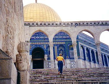 Wearing a skirt is a small price to pay for the privilege of visiting such a holy site