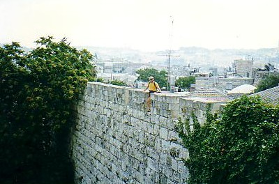 Walking on the wall of the Old City