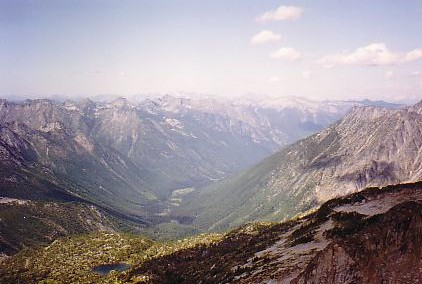 The spectacular view from the top of Kokanee Glacier