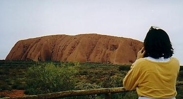 Ayers Rock, in central Australia