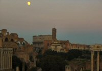 See the church with the tower directly in front of the Colluseum? That's where the wedding was.