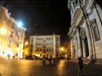 The streets and piazzas of central Rome were all but deserted by 3:00a.m.