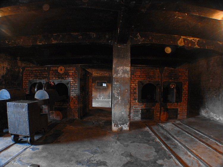 Auschwitz crematorium.