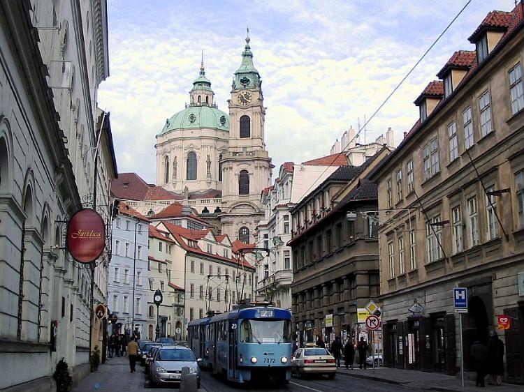 Trams, Prague.