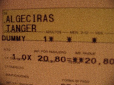 Even the ferry ticket was insulting me!