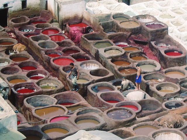 The famous Fes tanneries.