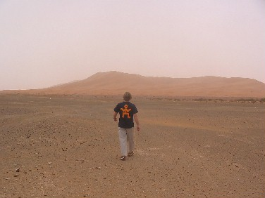 Almost lost in the Sahara, but always with World nomads behind me.