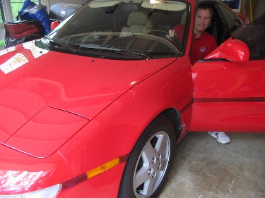 Andy in his MR2.