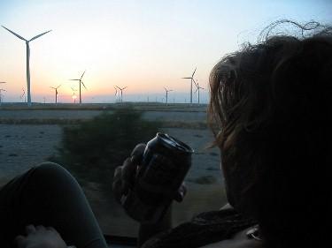 Windmills on the way back from Zaragoza.