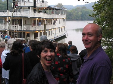Glenn and Shirley lined up to board the General Jackson, in Carthage, Tennessee.