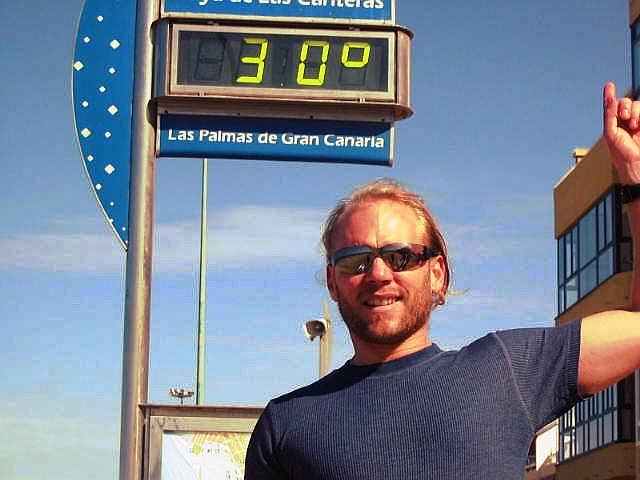 thirty degrees celcius, and I didn't even have to leave Spain!