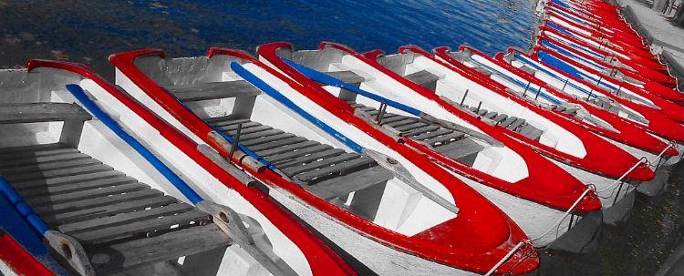 Rowboats for hire, Parque Casa de Campo, Madrid.
