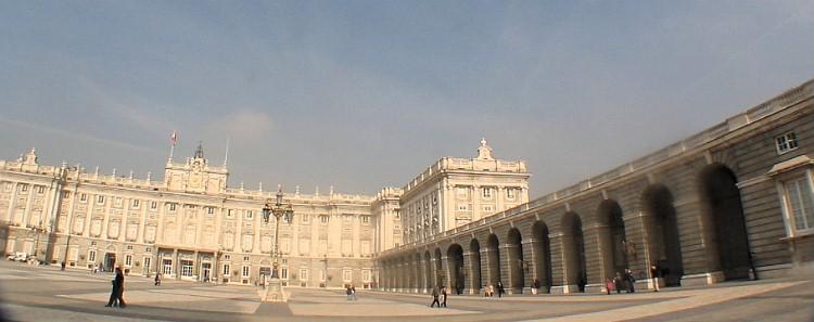 The backyard at the Royal palace, Madrid.