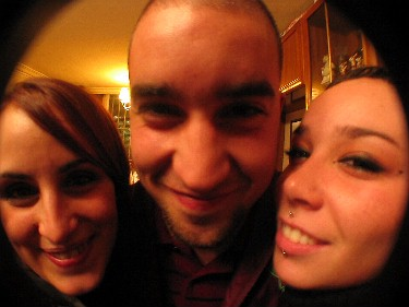 from right- Rocio (pronounced Rothio) her boyfriend and their friend.