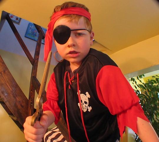 My nephew Flynn, the pirate menace.