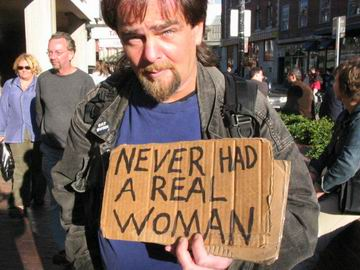 This guy made me laugh so much, he almost had me in tears when I saw him walking up the street holding this sign.