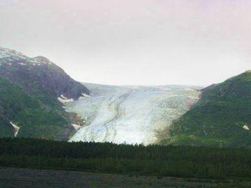 Actually Exit Glacier again, not taken from the train.