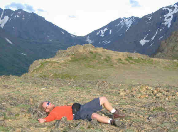 Just catching my breath after climbing Mt Flattop.