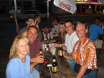 Suzan, Tim with rabbit ears, John, Ryan, Angela, Justin and myself.
