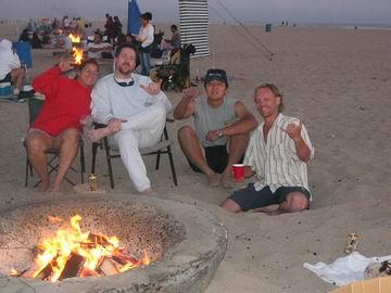 Monica, Chris, Takashi and myself 'hanging out' on Huntington Beach.