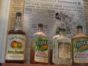 These are some of the products that were made at Jack Daniels in 1938, after prohibition was lifted. The distillers had to come up with products that would give a quick financial return, as opposed to the traditional Jack Daniels Sour Mash Whiskey, which ages for at least four years before it can be bottled and sold.
