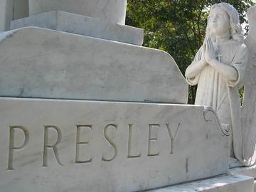 Elvis' memorial.