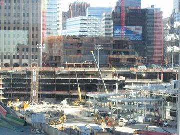 Underground construction, ground zero.
