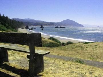Oregon coastline around Bandon.