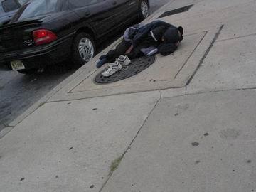 Homeless person, Phiadelphia