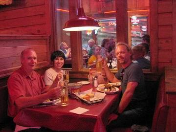 Glenn, Shirley and I at Logan's restaurant, Murfreesboro.