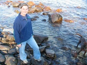 Marcie on the beach.