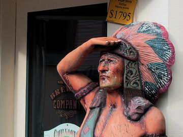Cigar store Indian, Skagway.