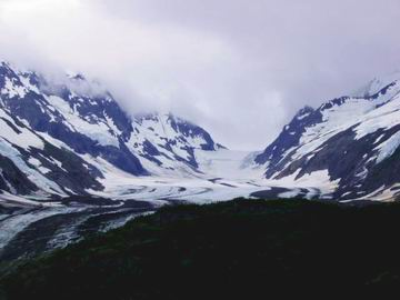 One of the many glaciers along the way.