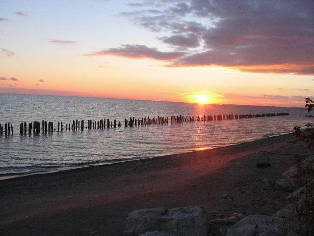 Sunset over Lake Erie.