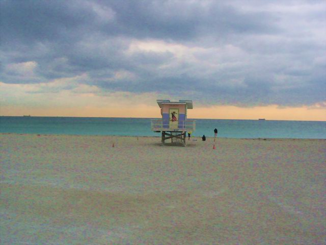 A quiet morning on South Miami Beach