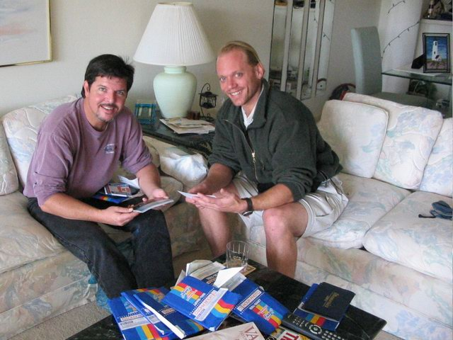 Steve and I catching up on some old memories.