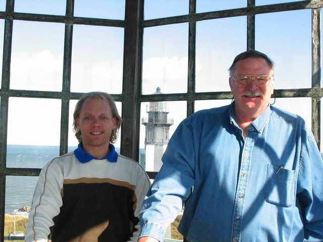Jim and I after climbing up this 1792 lighthouse.