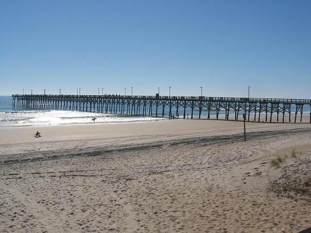 The pier at Topsail Island.