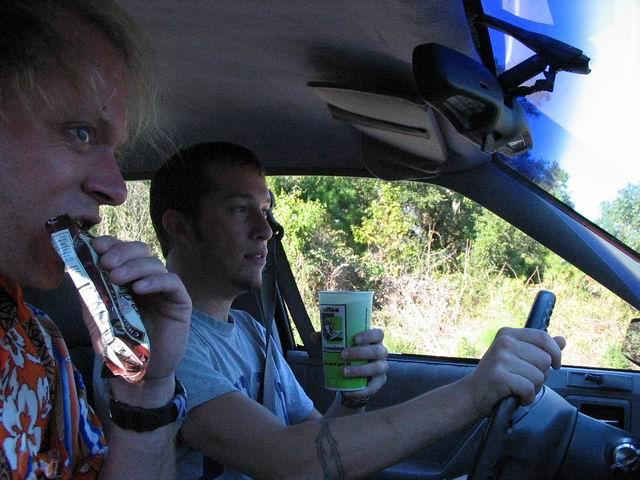 Alex and myself on a roadtrip.