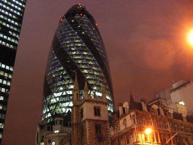 Contrast between the old and the new, central London.