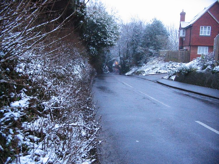 The lane that leads to the William IV pub.