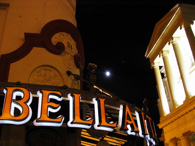 Brighton Town Hall at full moon.